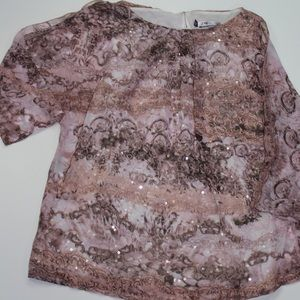 Pink and grey toned blouse Jennifer Lopez